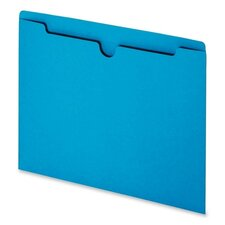File Jackets with Reinforced Double-Ply Tab, Letter, 100/Box