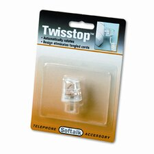 Twisstop Rotating Phone Cord Detangler, Clear