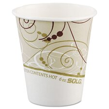 Symphony 6 oz. Paper Hot Cups (Set of 1000)