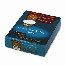 25% Cotton Diamond White Business Paper, 20 Lbs., 500/Box