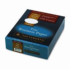 25% Cotton Business Paper, 24 Lbs., 500/Box, Fsc