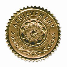 "Certificate Seals ""Achievement"" Embossed Foil, 12/Pack"
