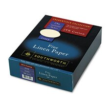 25% Cotton Linen Business Paper, 24 Lbs., 8-1/2 X 11, 500/Box, Fsc