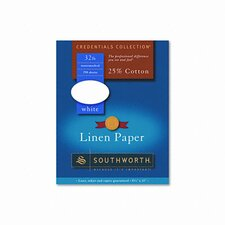 Credentials Collection Fine Linen Paper, White, Letter, 250 Sheets per Box