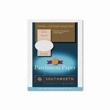 Colors + Textures Fine Parchment Paper, Ivory, 32lb, Letter, 250 per Box