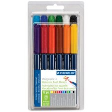 Marsgraphic Jr. Watercolor Brush Marker (Set of 12) (Set of 12)