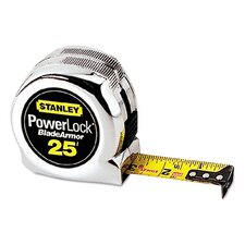 Plastic 25' PowerLock Reinforced Tape Measure