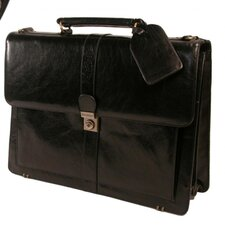<strong>Stebco LLC</strong> Structured  Top Grain Leather Briefcase