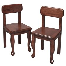 <strong>Gift Mark</strong> Queen Anne Child's Chair (Set of 2)