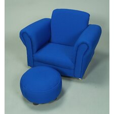 Upholstered Rocker and Ottoman Set
