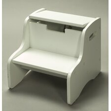<strong>Gift Mark</strong> Storage Step Stool in White