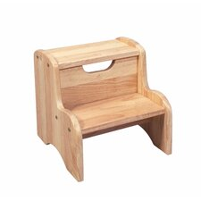 <strong>Gift Mark</strong> Two Step Stool in Natural