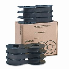 LGXXRLR Printer Ribbon, Fabric, 32M Yield, Black, Six per Box