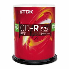 CD-R Discs 700Mb/80Min 52X Spindle, 100/Pack