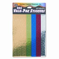Sticker Valu-Pak Foil Stars, 686/Pack