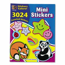 Mini Size Sticker Book, 3,024/Pack