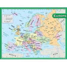 Europe Map Chart 17x22