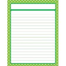 Lime Green Polka Dots Chart
