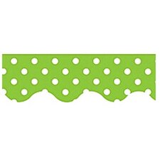 <strong>Teacher Created Resources</strong> Lime Mini Polka Dots Border Trim