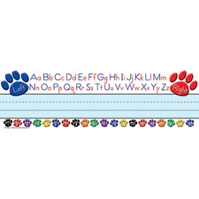 Paw Prints Left/right Alphabet Name