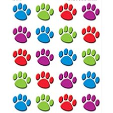 Colorful Paw Prints 120 Stickers