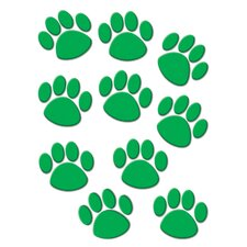 Green Paw Print Accents 30 Pk