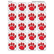 Stickers Red Paw Prints