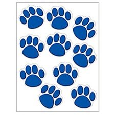 Accents Blue Paw Prints