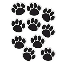 Accents Black Paw Prints