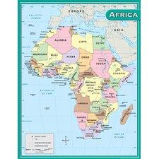 Africa Map Chart 17x22