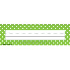 <strong>Teacher Created Resources</strong> Lime Polka Dots Name Plates