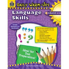 Daily Warm Ups Language Skills Gr 6