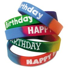 Happy Birthday Wristband (Set of 10)