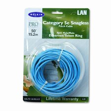 Cat5E Snagless Patch Cable, Rj45 Connectors, 50 Ft.