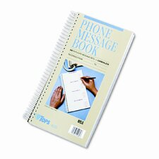 Spiralbound Message Book, Carbonless Duplicate, 600-Set Book