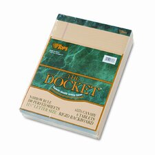 Double Docket Ruled Pads, Narrow Rule, Letter, 100 Sheets, 6-Pack