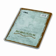 Second Nature Subject Wirebound Notebook, College Rule, Letter, White