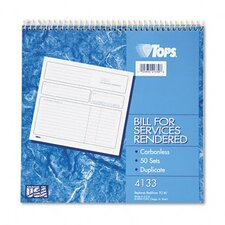 <strong>Tops Business Forms</strong> Spiralbound Service Invoices, Two-Part Carbonless, 50 Sets/Book