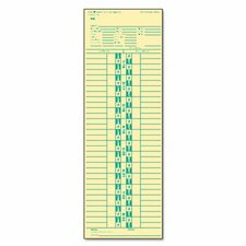 Time Card for Simplex, Semi-Monthly, 500/Box