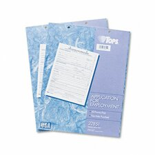 Employee Application Form, 50/Pad, 2/Pack