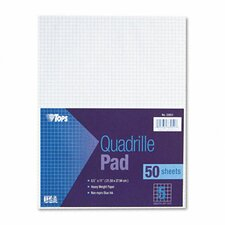 Quadrille Pads, 5 Squares / Inch, 50 Sheets / Pad