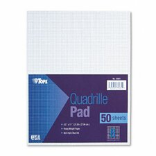 Quadrille Pads, 8 Squares/Inch, 50 Sheets / Pad