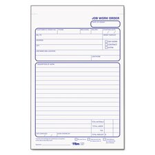 Job Work Order Pad, Two-Part Carbon, 50 / Pad