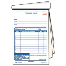 Purchase Order Book, Three-Part Carbonless, 5-9/16 X 7 15/16, 50 Sets/Book