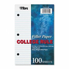 Filler Paper College Rule, 100/Pack