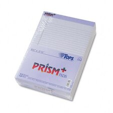 Prism Plus Colored Pads, Legal Rule, Letter, 50-Sheet Pads, 12/Pack