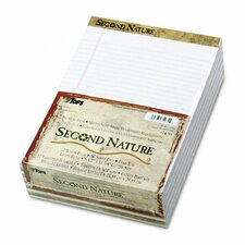 <strong>Tops Business Forms</strong> Second Nature Recycled Letter Pads, Legal Red Margin Rule, 50-Sheet, 12/Pack
