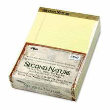 Second Nature Recycled Pad, Legal, Red Margin, Letter, 50-Sheet