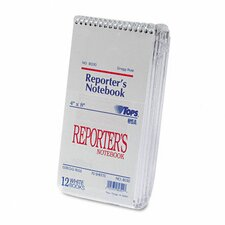 <strong>Tops Business Forms</strong> Reporter Notebook, Gregg Rule, 12 70-Sheet Pads/Pack