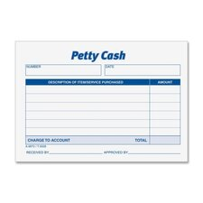 Received Of Petty Cash Slips, 50/Pad, 12/Pack